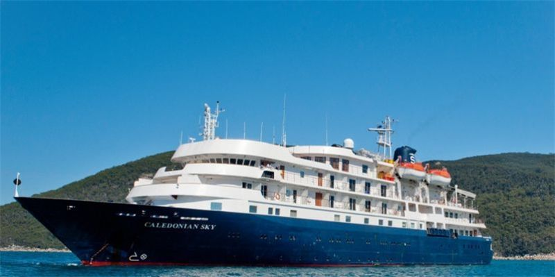 The Caledonian Sky operated by U.K.-based travel company Noble Caledonia is set to take travelers on the first-ever cruise tour of Taiwan and its outlying islands.
