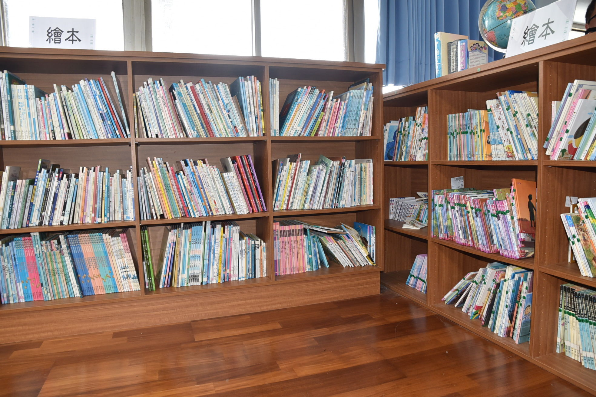 Community reading room at Jhong Tun Elementary