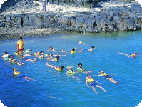 Underwater snorkeling is just one of the ways of enjoying water sports