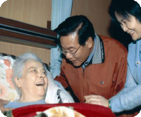 Magistrate visited in-home nurse care of Penghu hospital to care the health and dining situation of the senior citizen